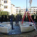 Montáž fontány